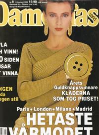 Omslag, Damernas värld nr 8, 1990.